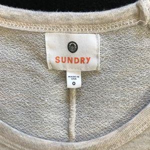 Sundry Tops - Sundry Hearts Lightweight Sweatshirt Top Oatmeal 0